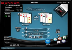 Bovada online baccaratgames for California residents