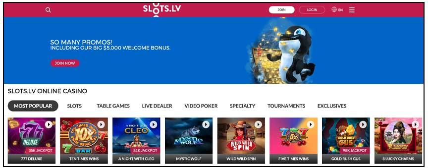 slots.lv screenshot